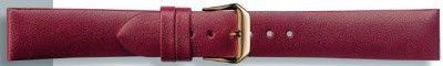 Echt leder donker rood 18mm PVK-241