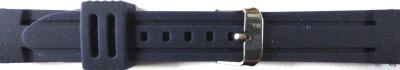 Horlogeband Rubber 24mm Blauw PVK DS253