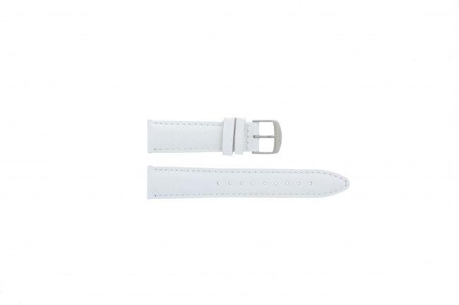 Timex horlogeband T2N345 Leder Wit 20mm
