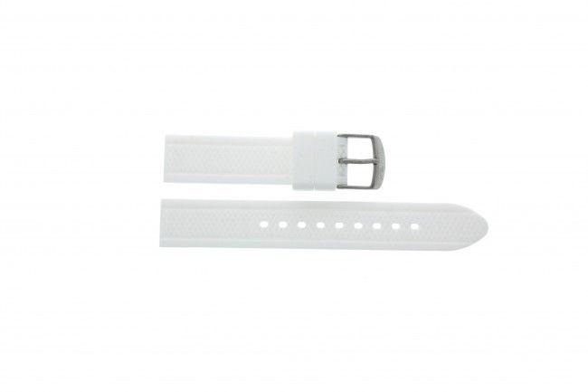 Timex horlogeband T2P061 Rubber Wit 18mm