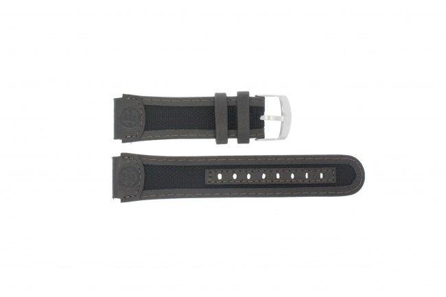 Timex horlogeband T40091 Leder Zwart 20mm