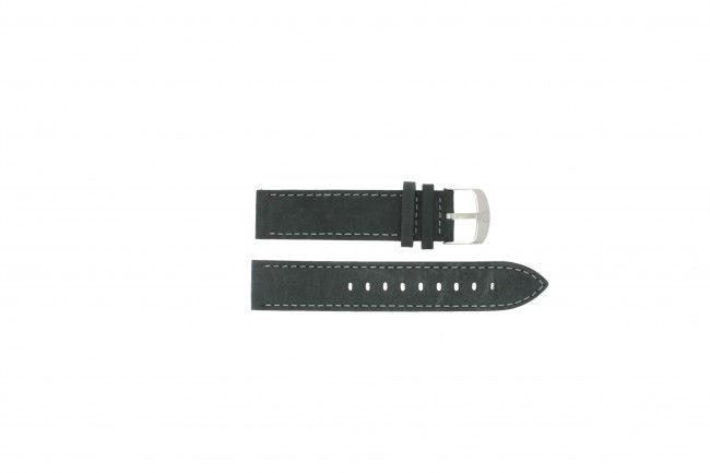 Timex horlogeband T9877 Leder Zwart 20mm