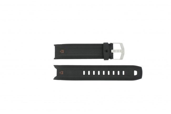 Timex horlogeband T5K402 Silicoon Zwart 19mm