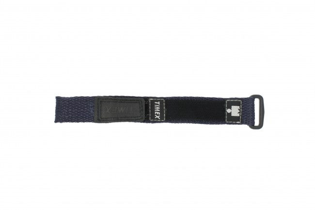 Timex horlogeband T82351 Velcro Blauw 16mm