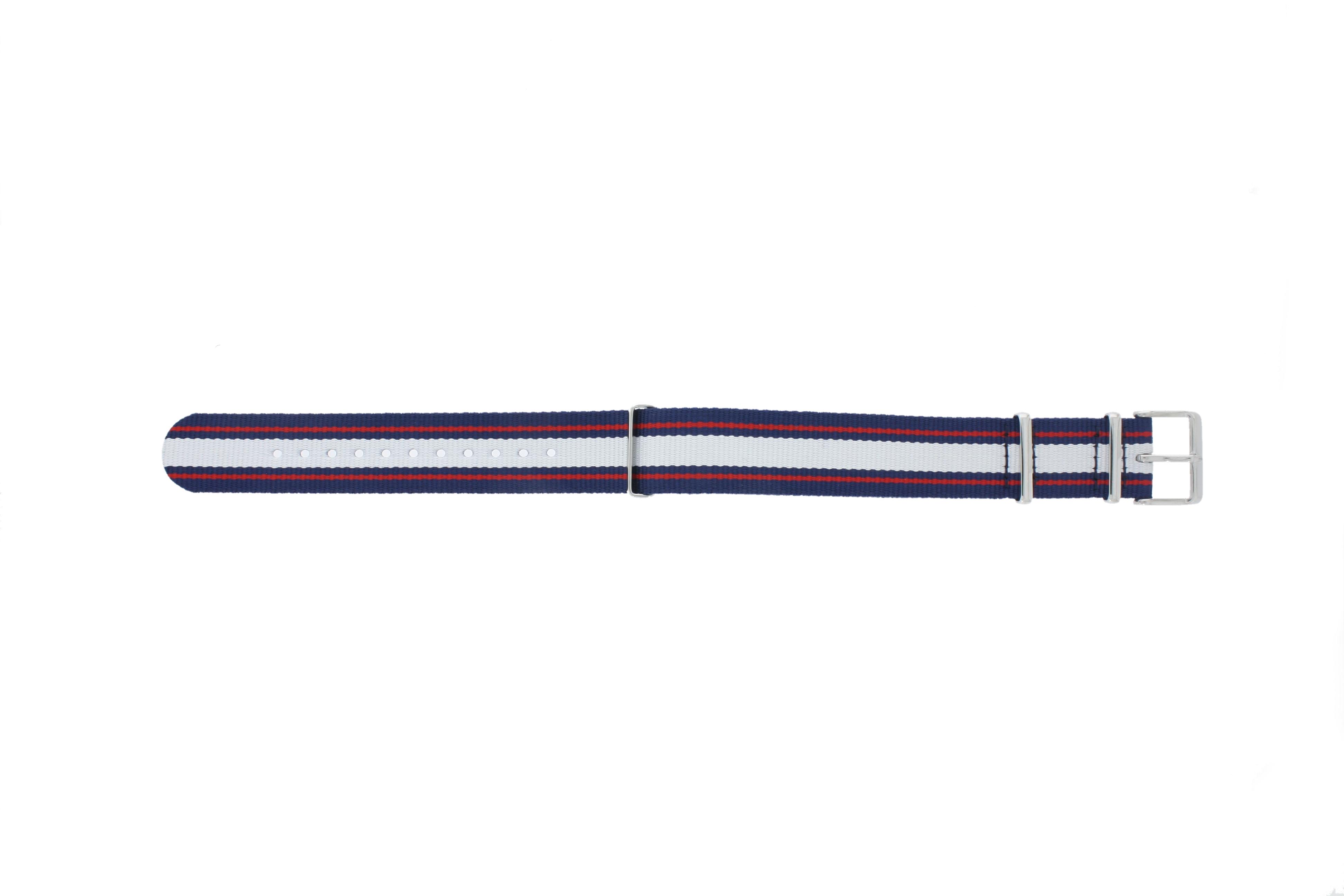 Timex horlogeband TW7C06900 Textiel Blauw 20mm