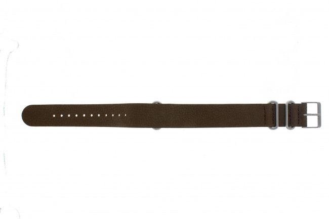 Timex horlogeband TW2P64600 Leder Bruin 20mm