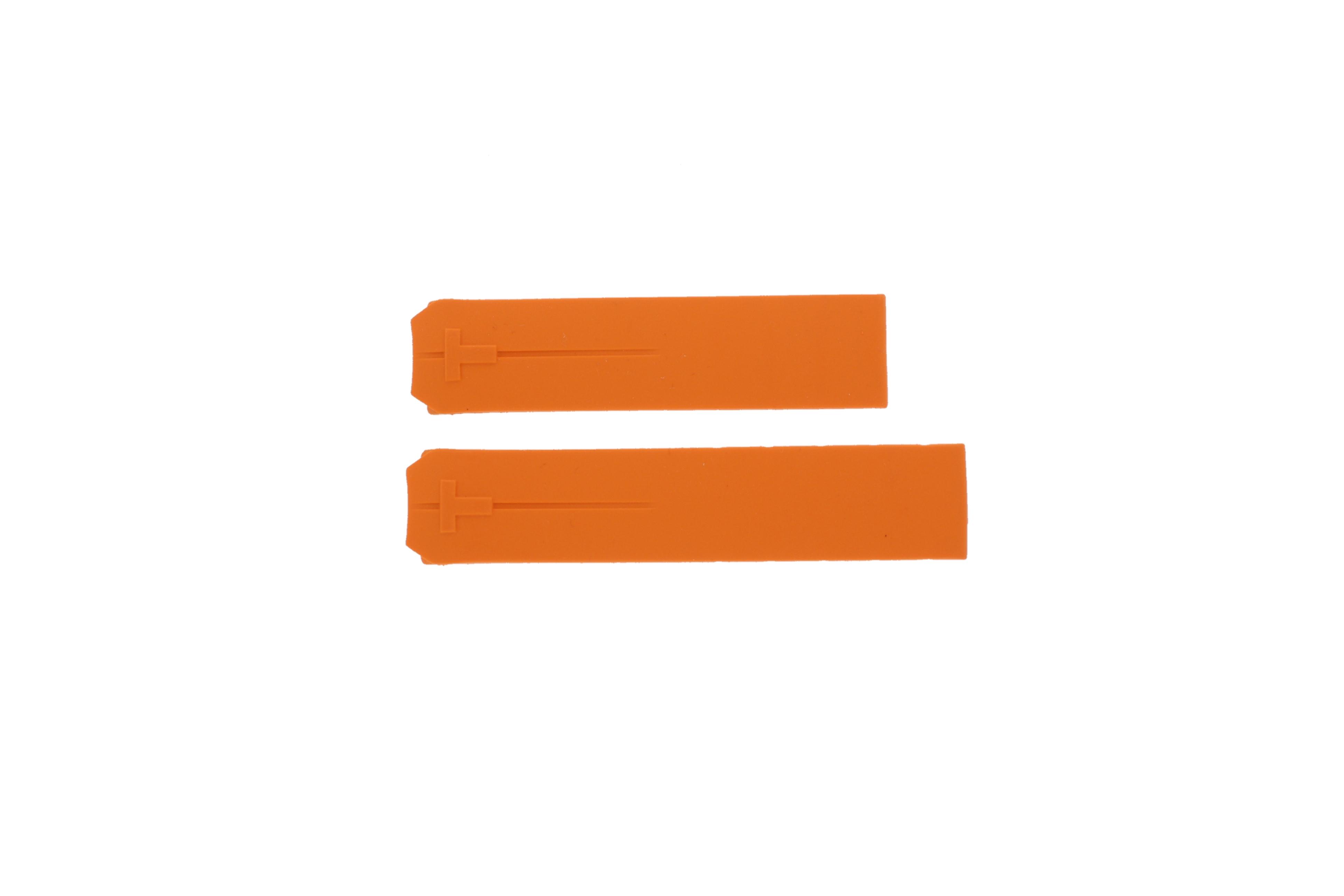Tissot horlogeband Z253-353 T610014615-T6106502020 Rubber Oranje 20mm