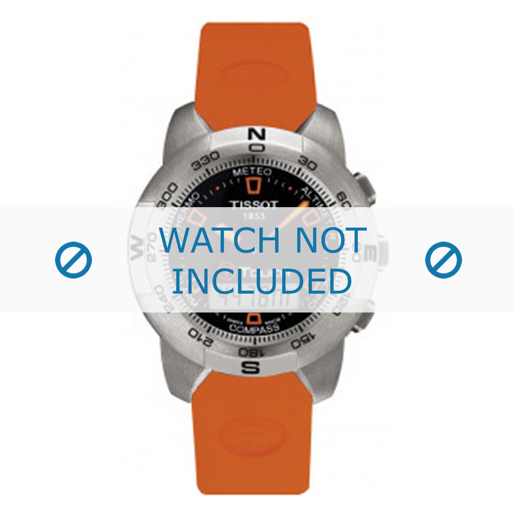Tissot horlogeband T013.420.A T610026463-T047.420.A Rubber Oranje 21mm