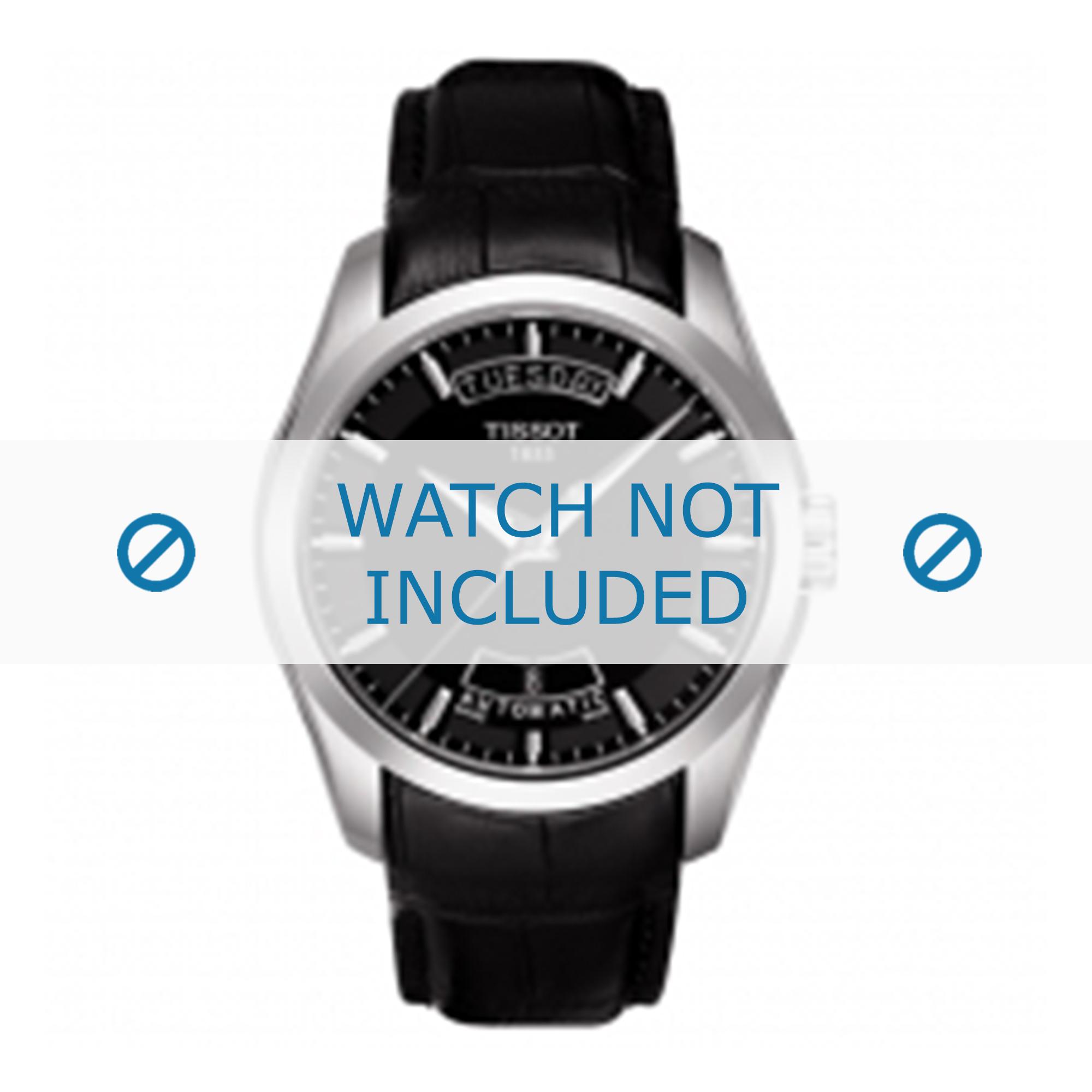 Tissot horlogeband T035.407.A T610028591 Leder Zwart 22mm