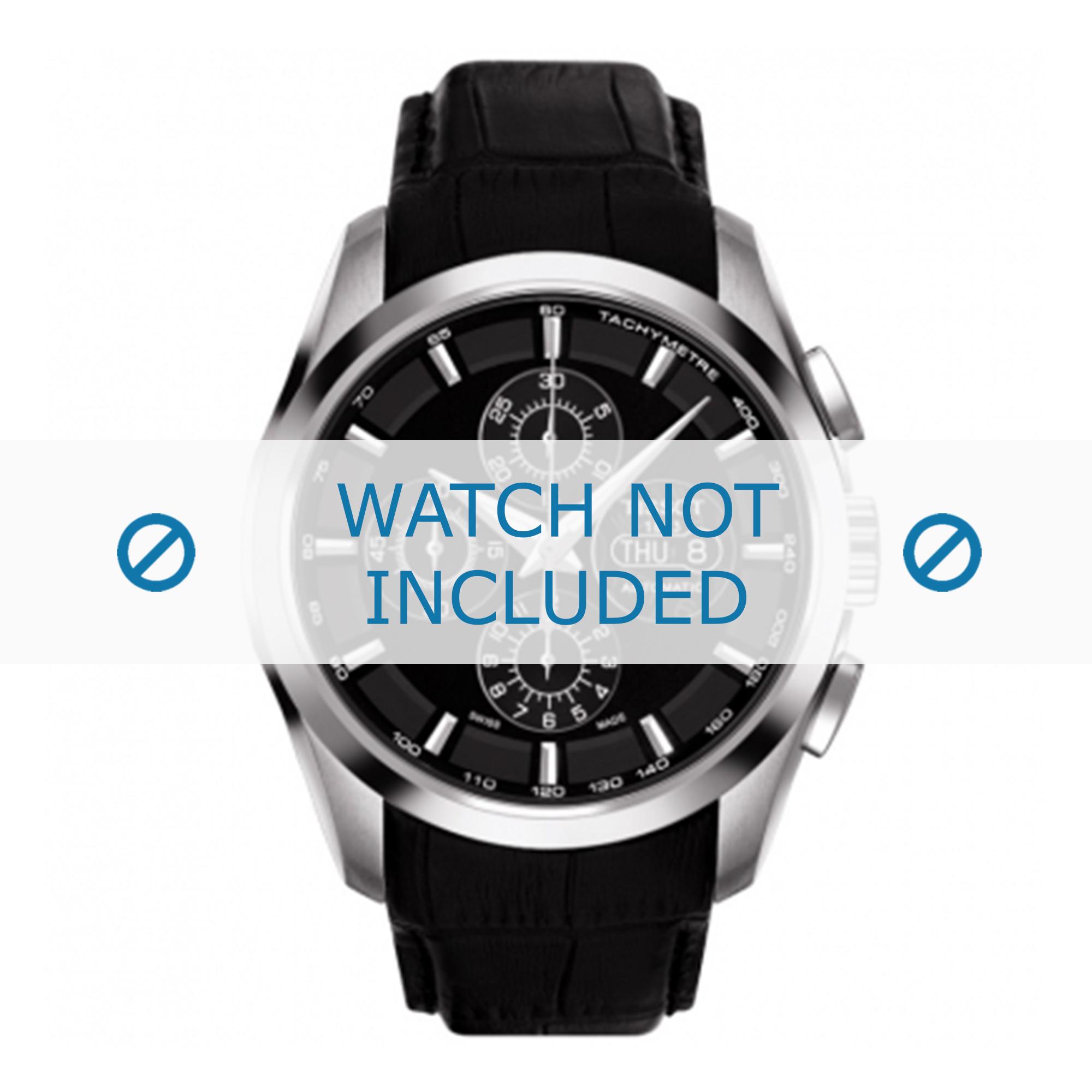 Tissot horlogeband T035.614 T610028592-T035.614.A Croco leder Zwart 24mm