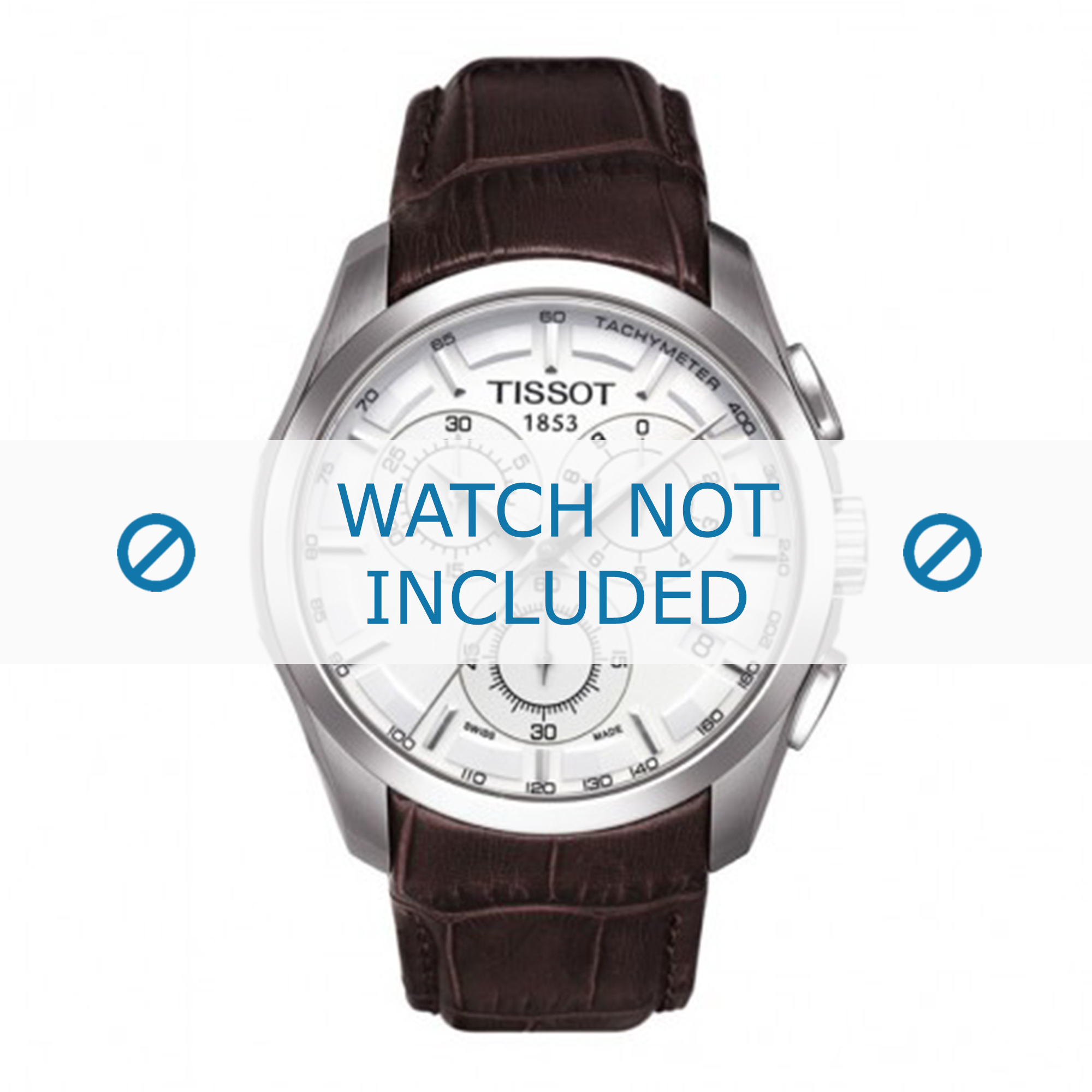 Tissot horlogeband T035.617.16.031.00 T610027774 Leder Bruin 23mm