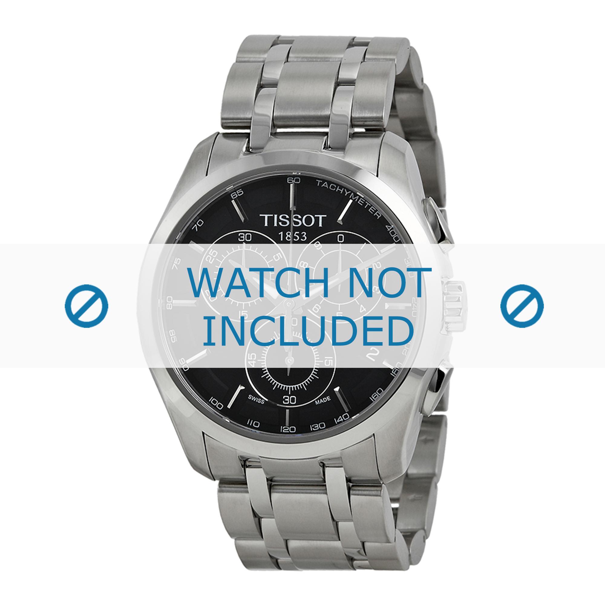 Tissot horlogeband T035.617.A T605028311-T035.439.A Staal Zilver 23mm