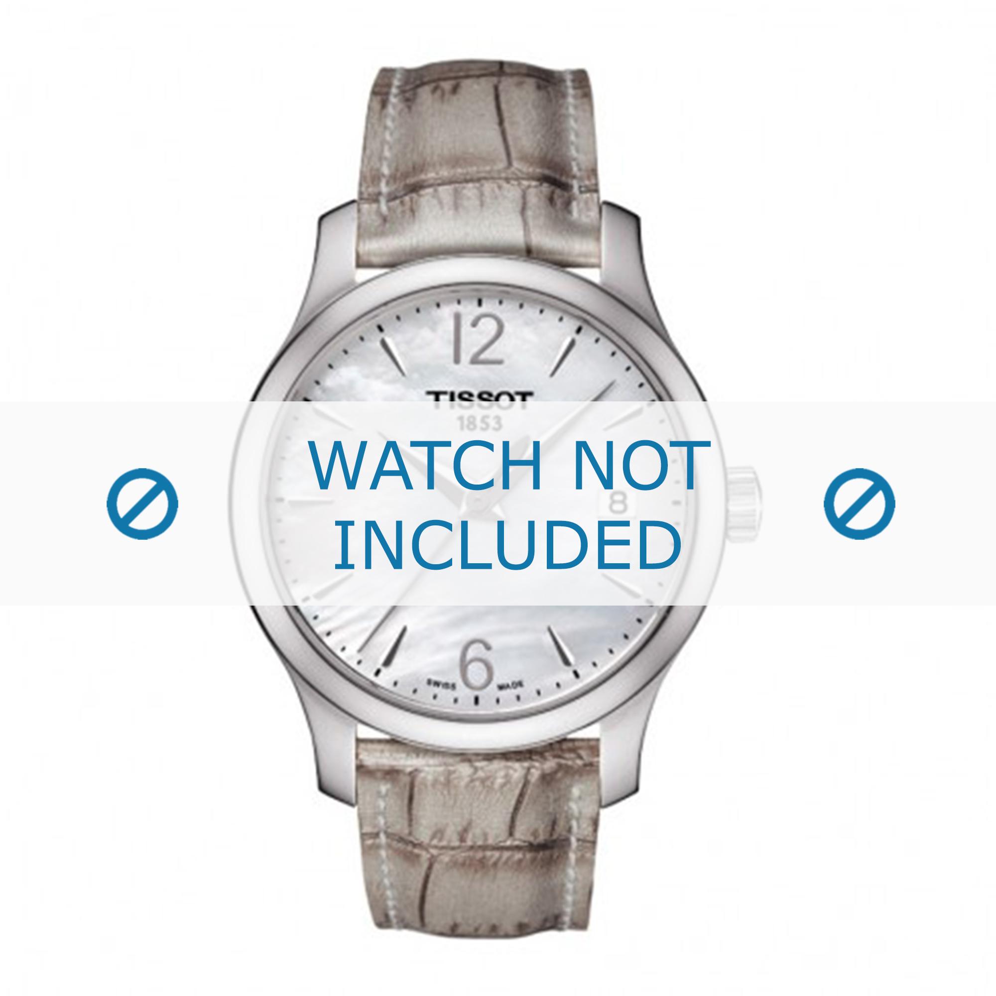Tissot horlogeband T063.210.17.117.00 Leder Beige 16mm + standaard stiksel