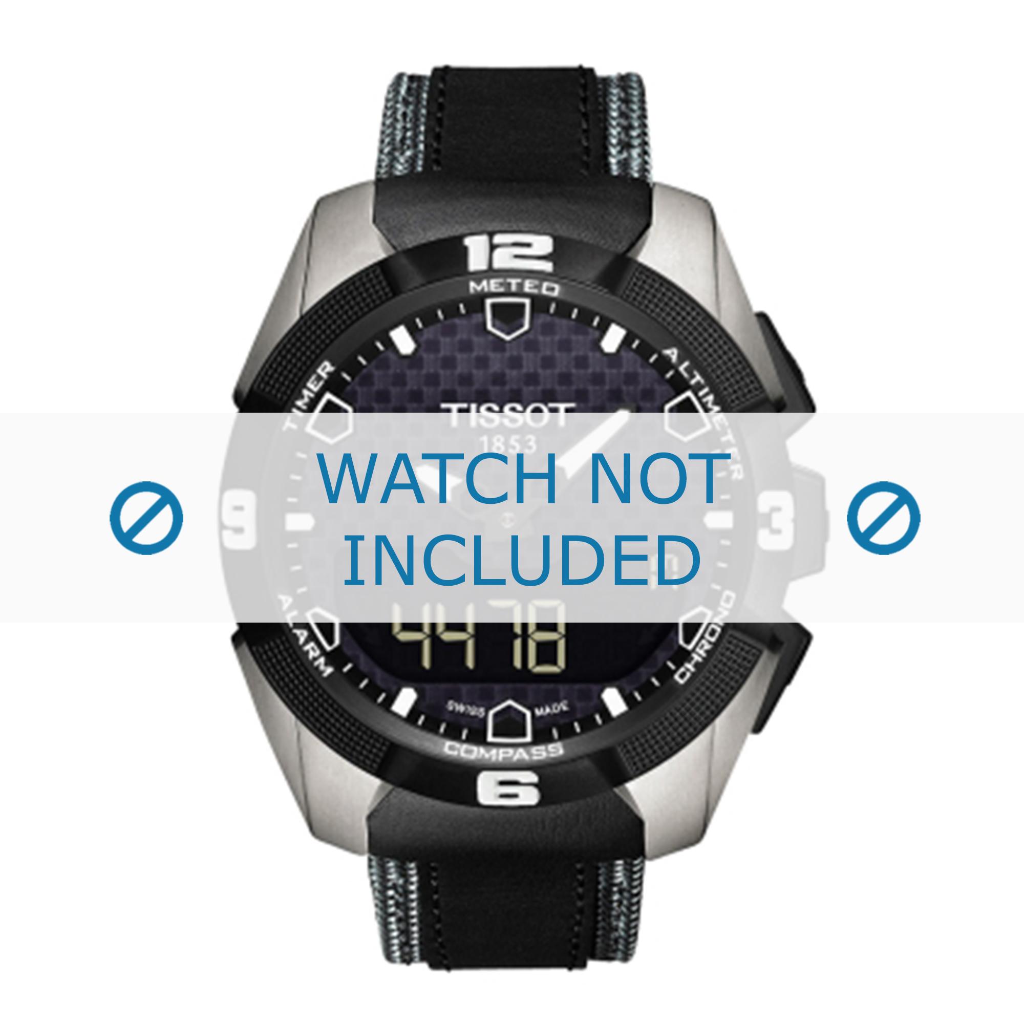 Tissot horlogeband T091.420.A - T0914204605101 Leder Zwart 22mm