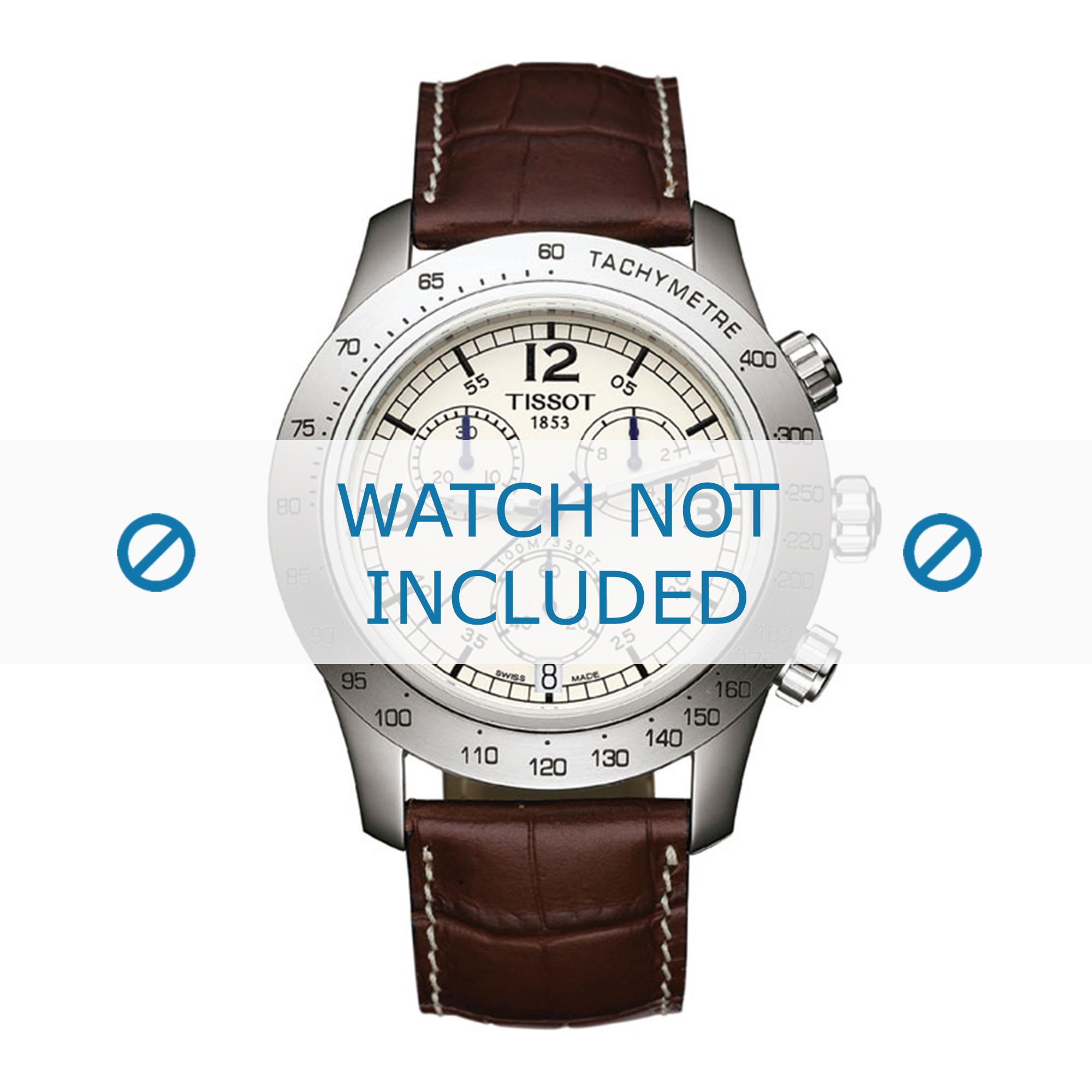 Tissot horlogeband S762-862 T600013455 Croco leder Bruin 21,8mm
