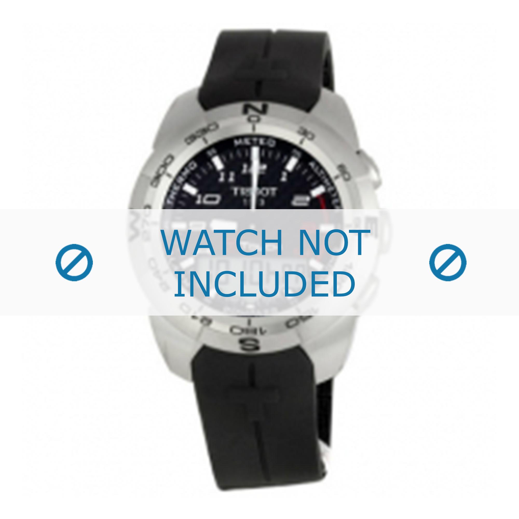 Tissot horlogeband T013.420.1 T-Touch Expert T603026461-T013420A Rubber Zwart 21mm