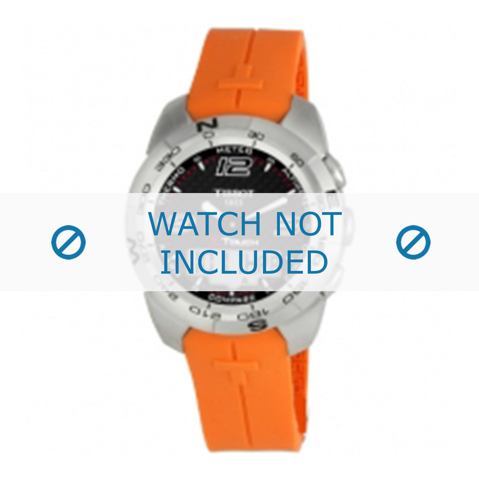 Tissot horlogeband T047.420.1 T-Touch Expert T603026664 Rubber Oranje 21mm