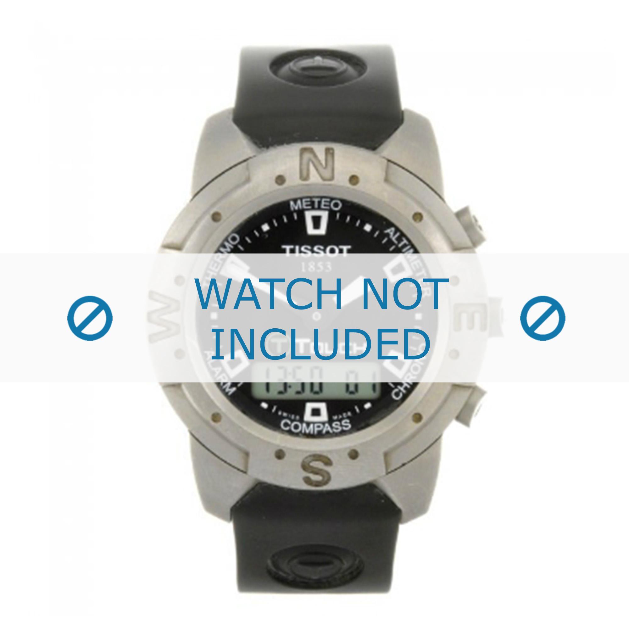Tissot horlogeband Z251-351 T-Touch T610014552 Rubber Zwart 20mm