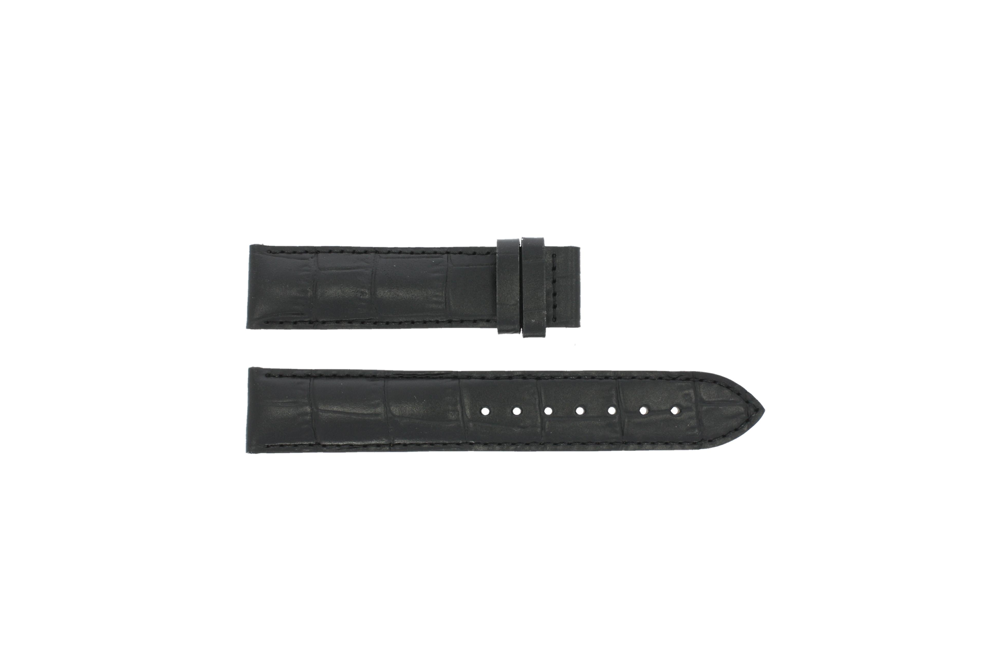 Tissot horlogeband T361.461 PRC 200 T610014562 Croco leder Zwart 19mm
