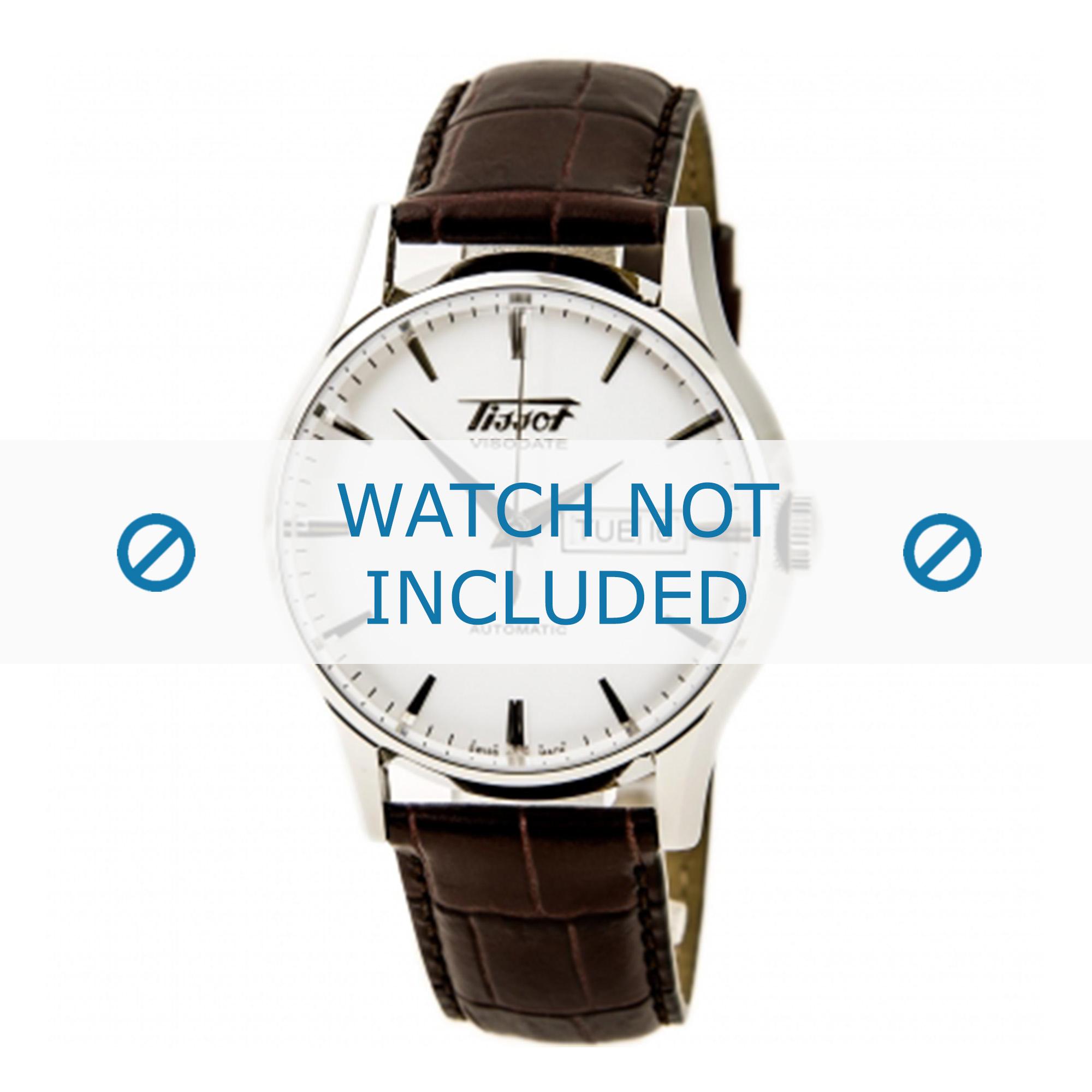 Tissot horlogeband T019.430 Visodate T610014569 Leder Bruin 20mm