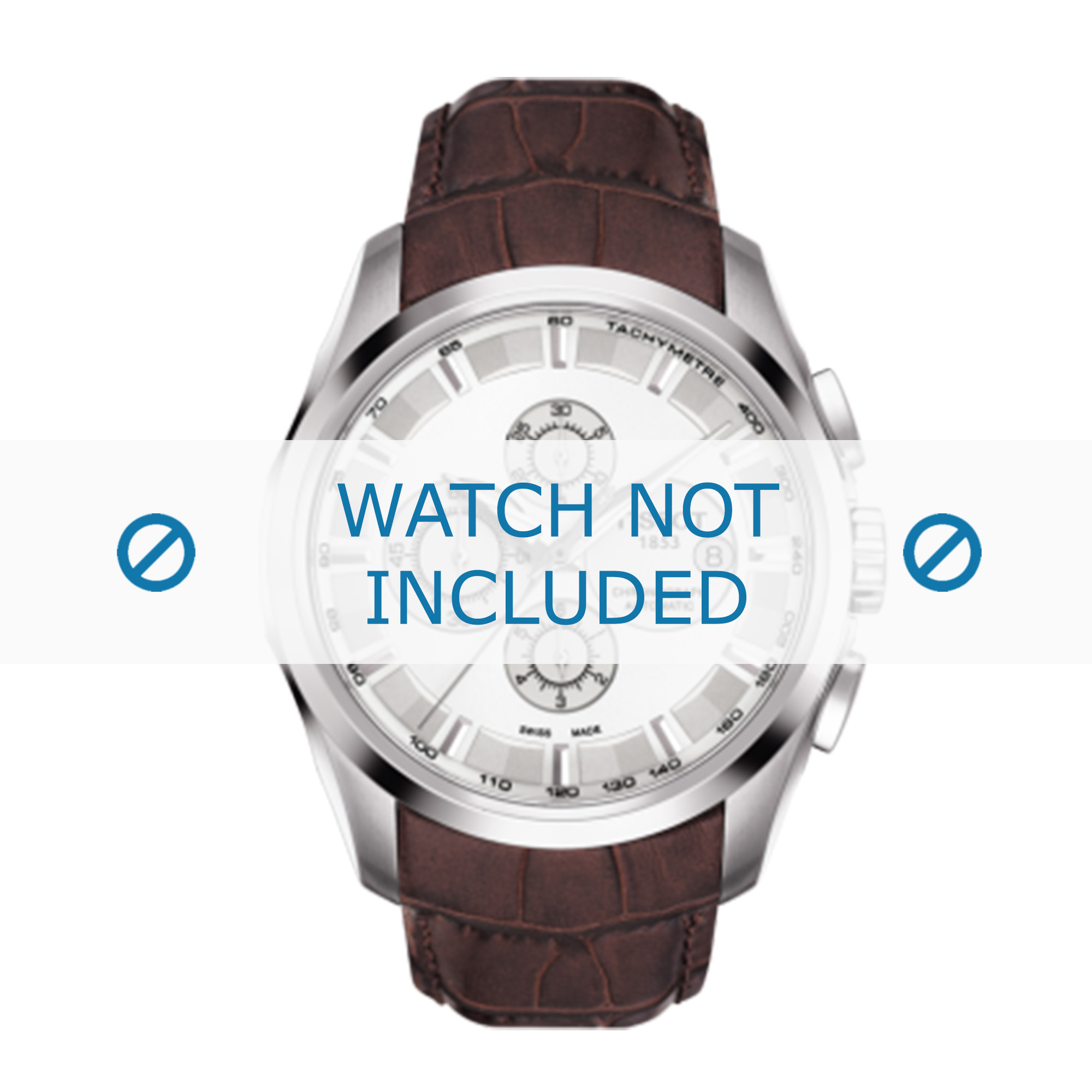 Tissot horlogeband T035.627.A T610028611 Leder Bruin 24mm