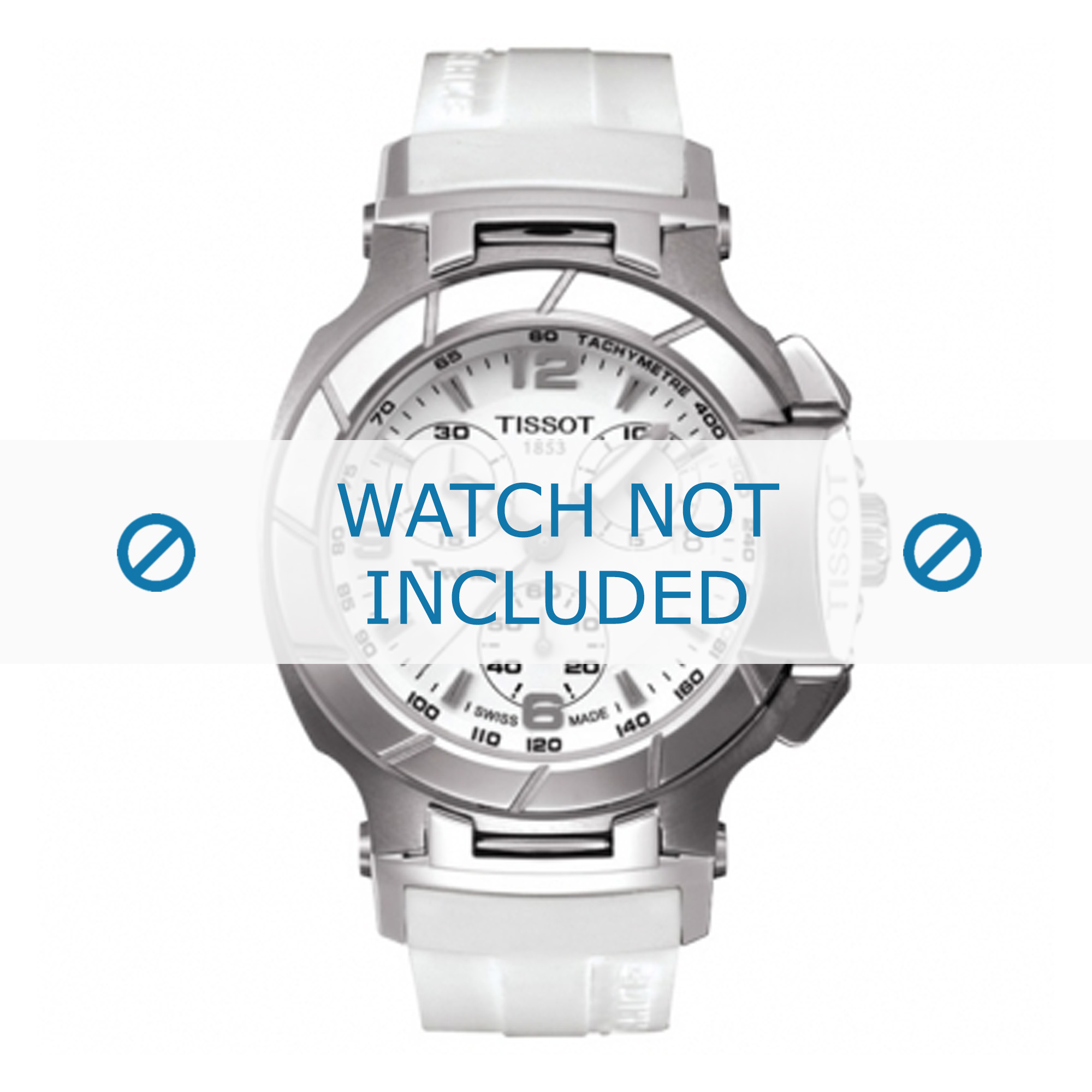 Tissot horlogeband T048.217 - T610031513 Rubber Wit 17mm