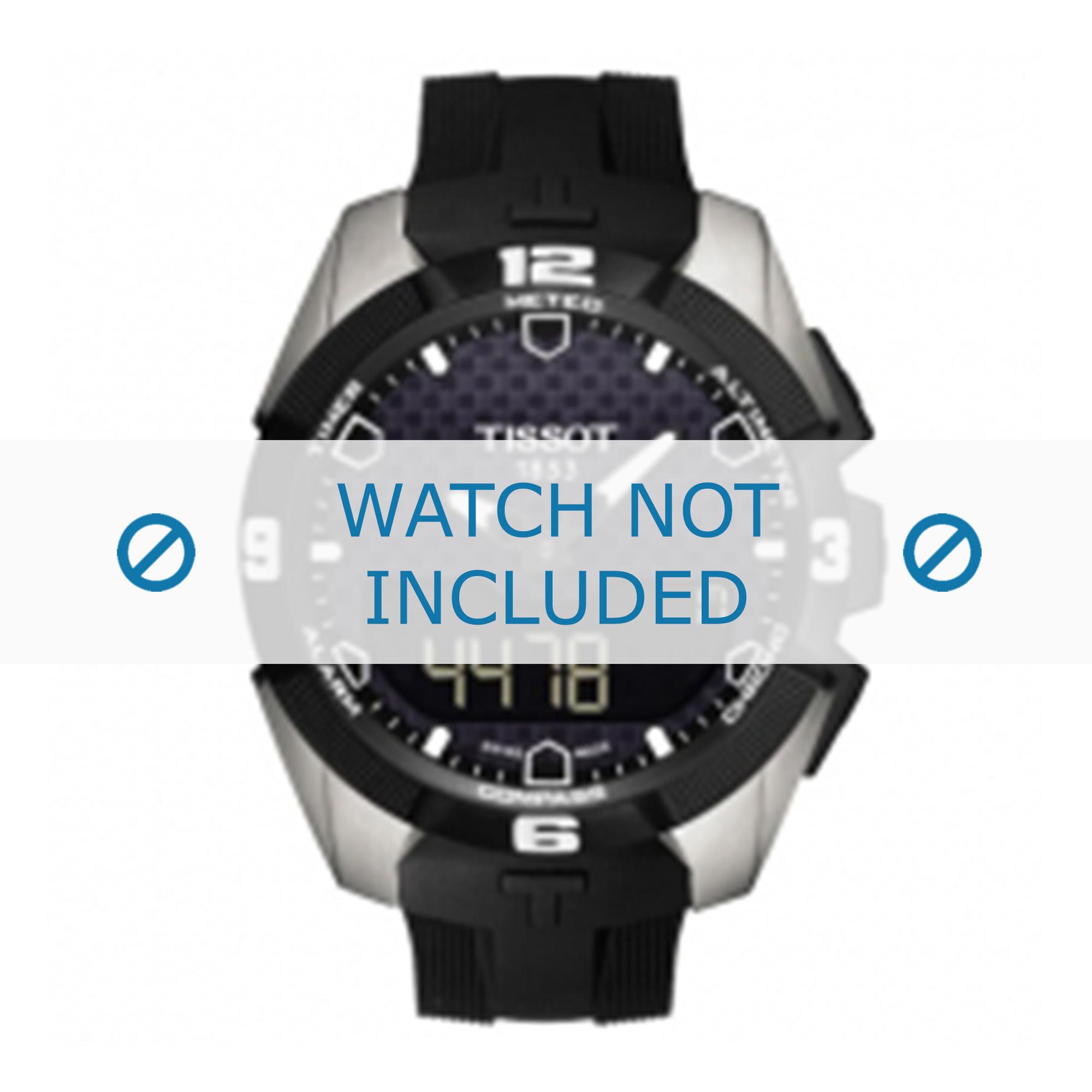 Tissot horlogeband T091420A T-Touch Expert Solar T610034733 Rubber Zwart 22mm