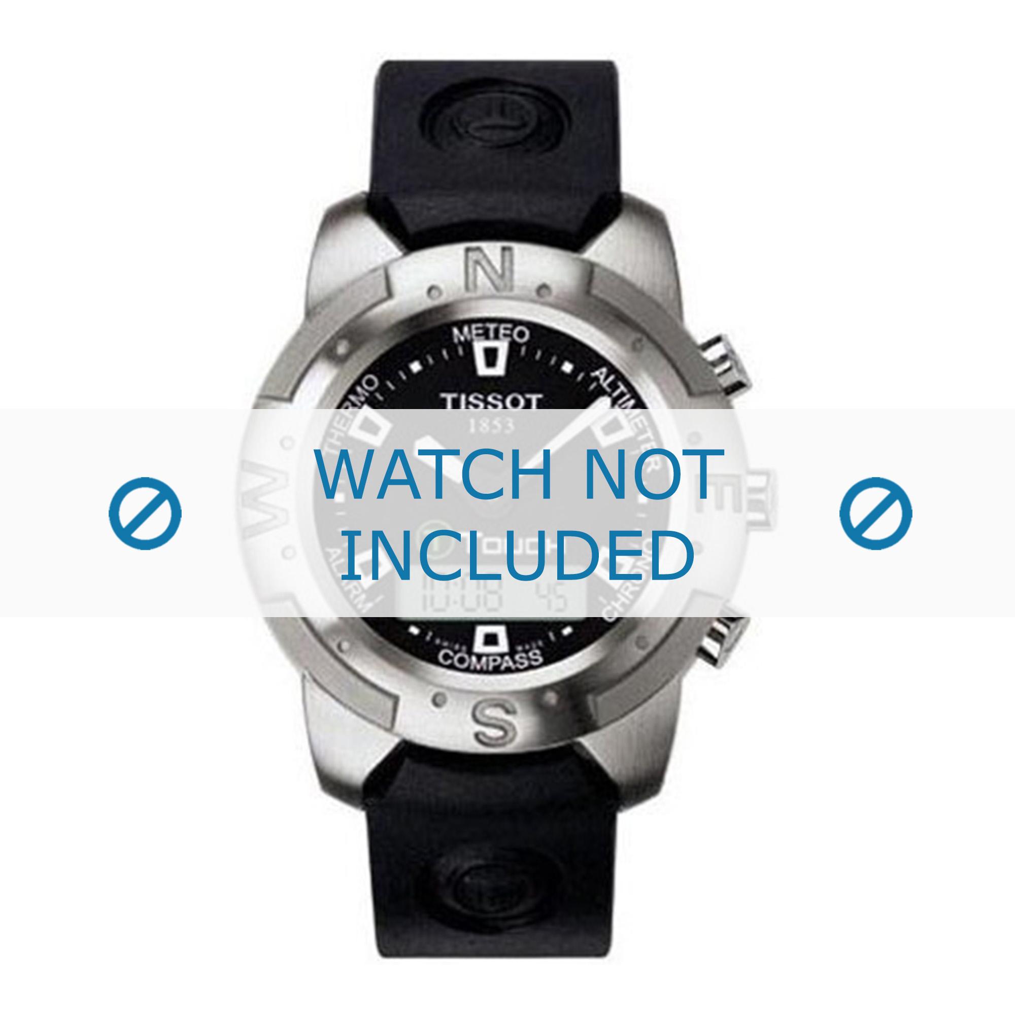 Tissot horlogeband Z253.353 T610014614 Rubber Zwart 20mm