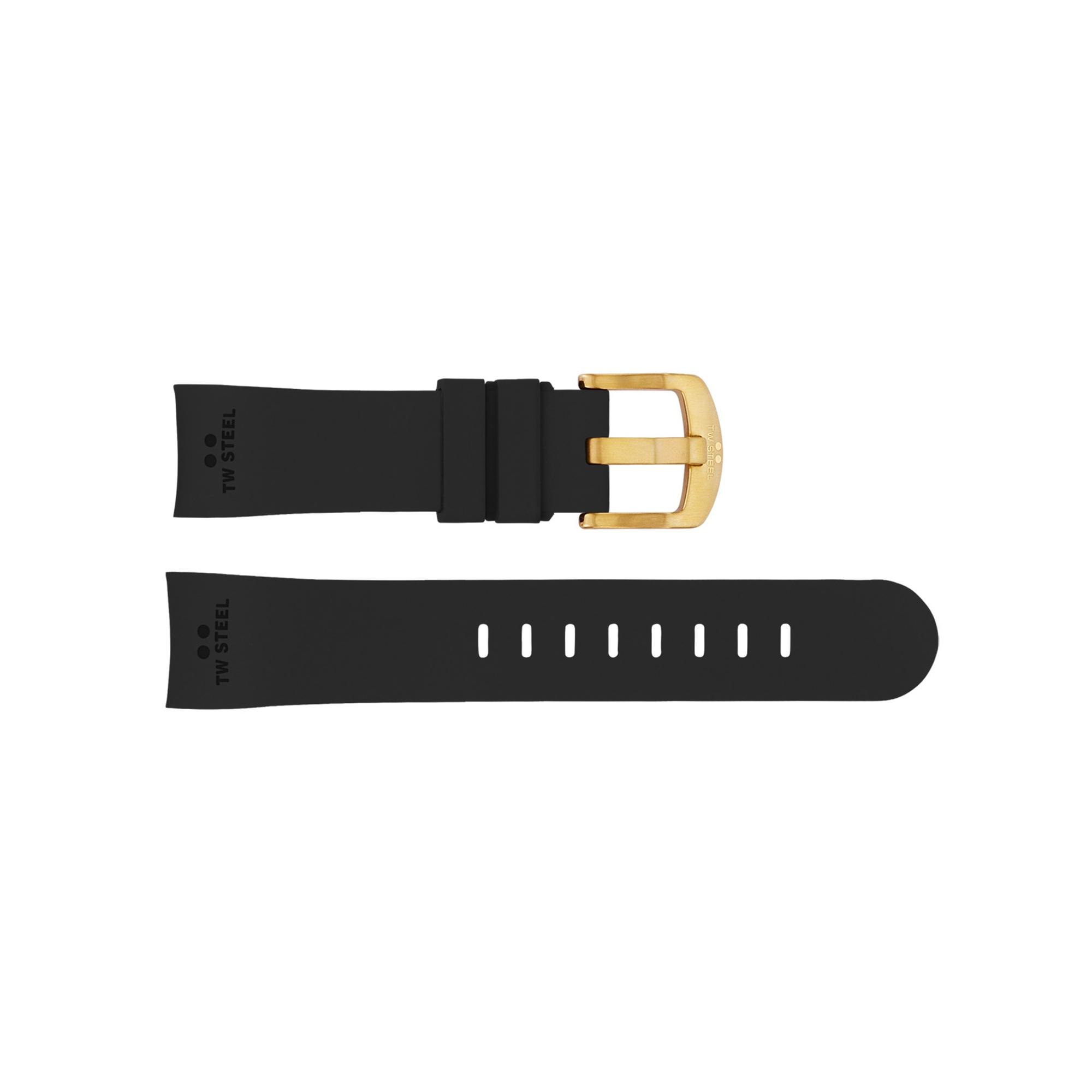 TW Steel horlogeband TWB101 Silicoon Zwart 22mm
