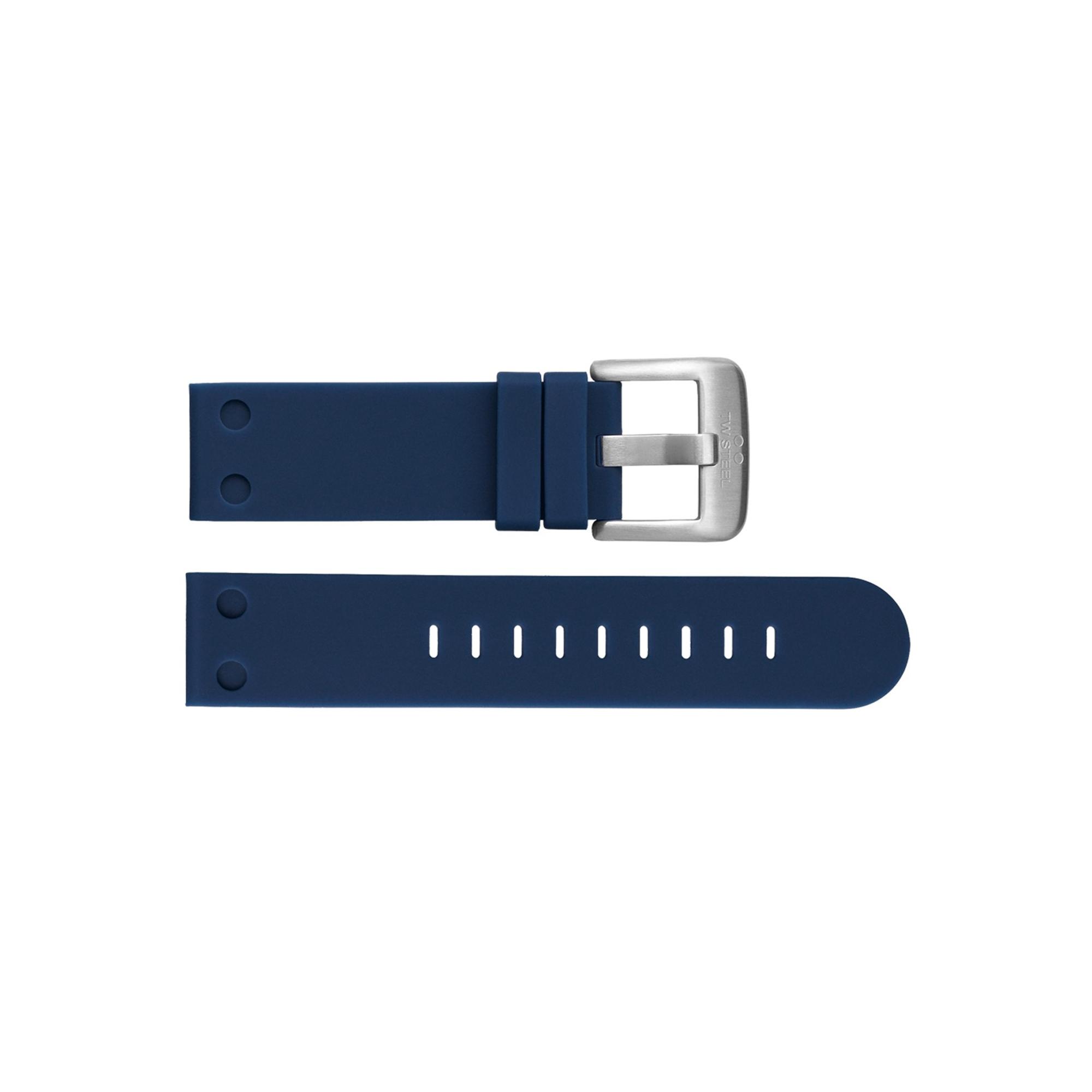 TW Steel horlogeband TWB585 Silicoon Blauw 22mm