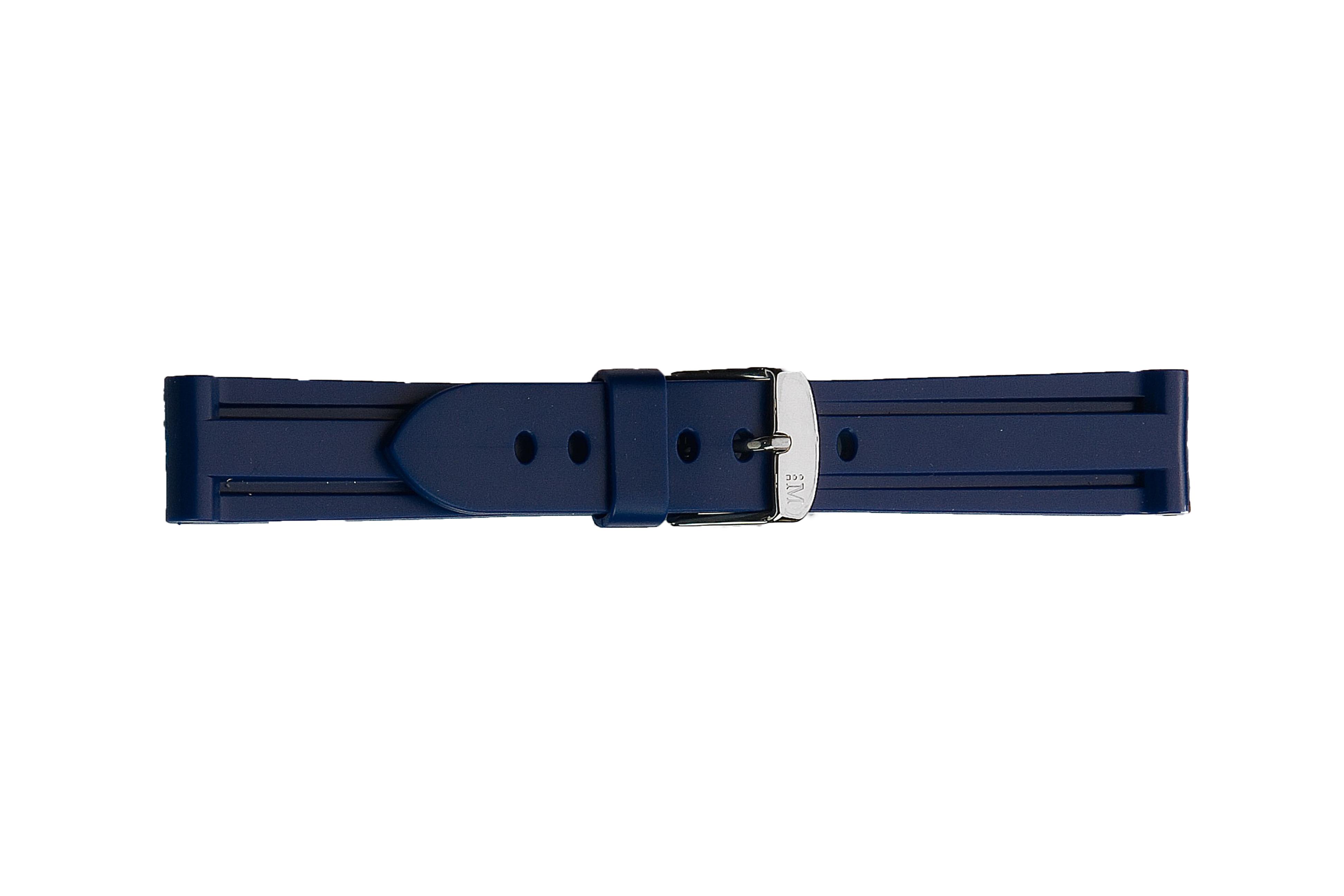 Morellato horlogeband Mariner U2859198062CR24 / PMU062MARINE24 Rubber Blauw 24mm
