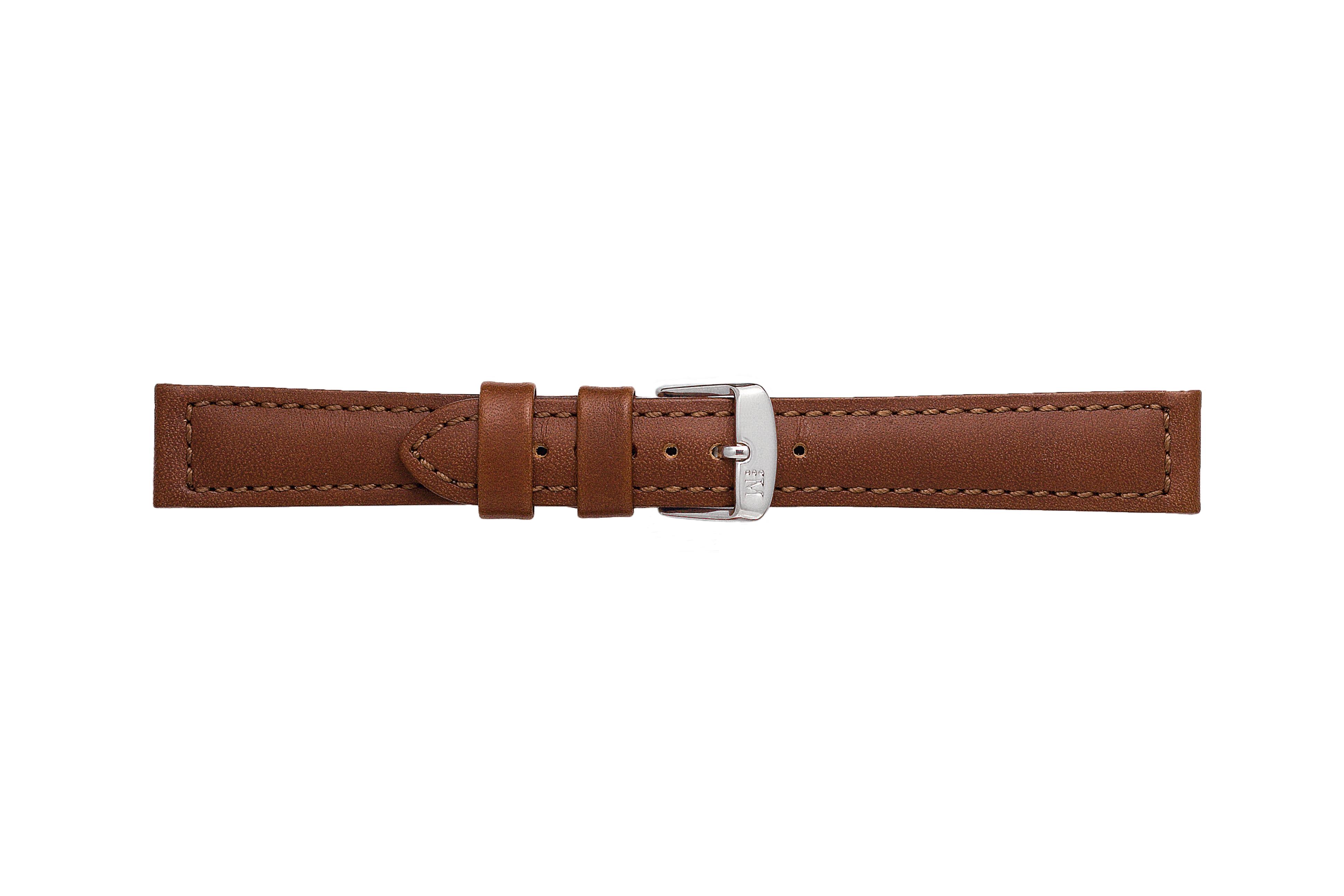 Morellato horlogeband Botero U2226364034CR22 / PMU034BOTERL22 Glad leder Donkerbruin 22mm + standaard stiksel