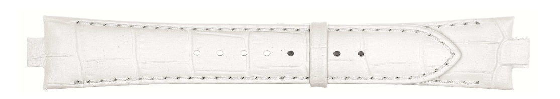 Lederen horlogeband 8mm wit 868D