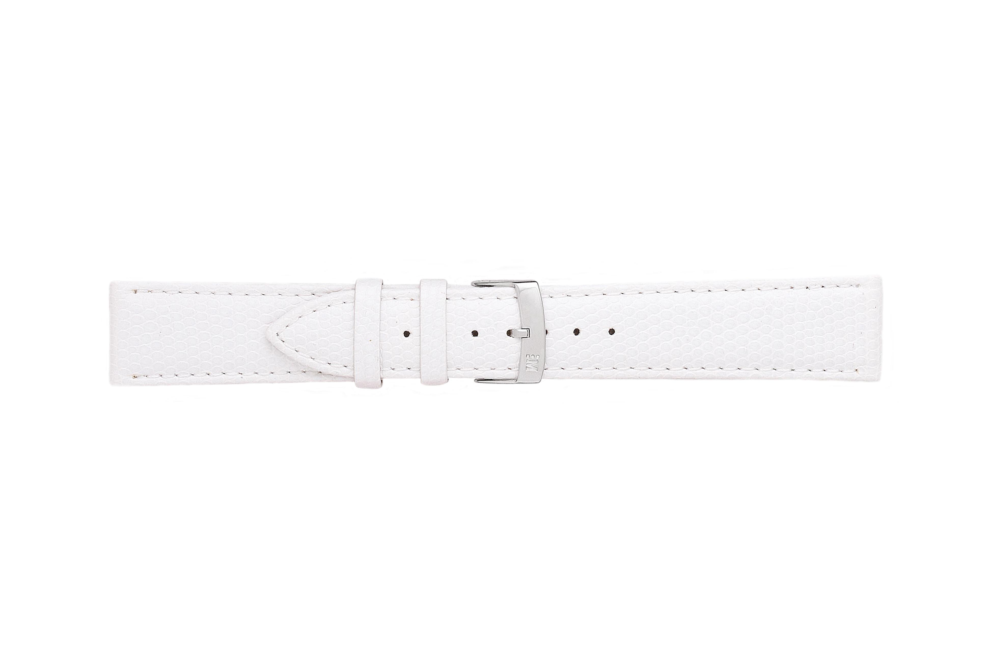 Morellato horlogeband Ibiza X3266773017CR12 / PMX017IBIZA12 Hagedissenleer Wit 12mm + standaard stiksel