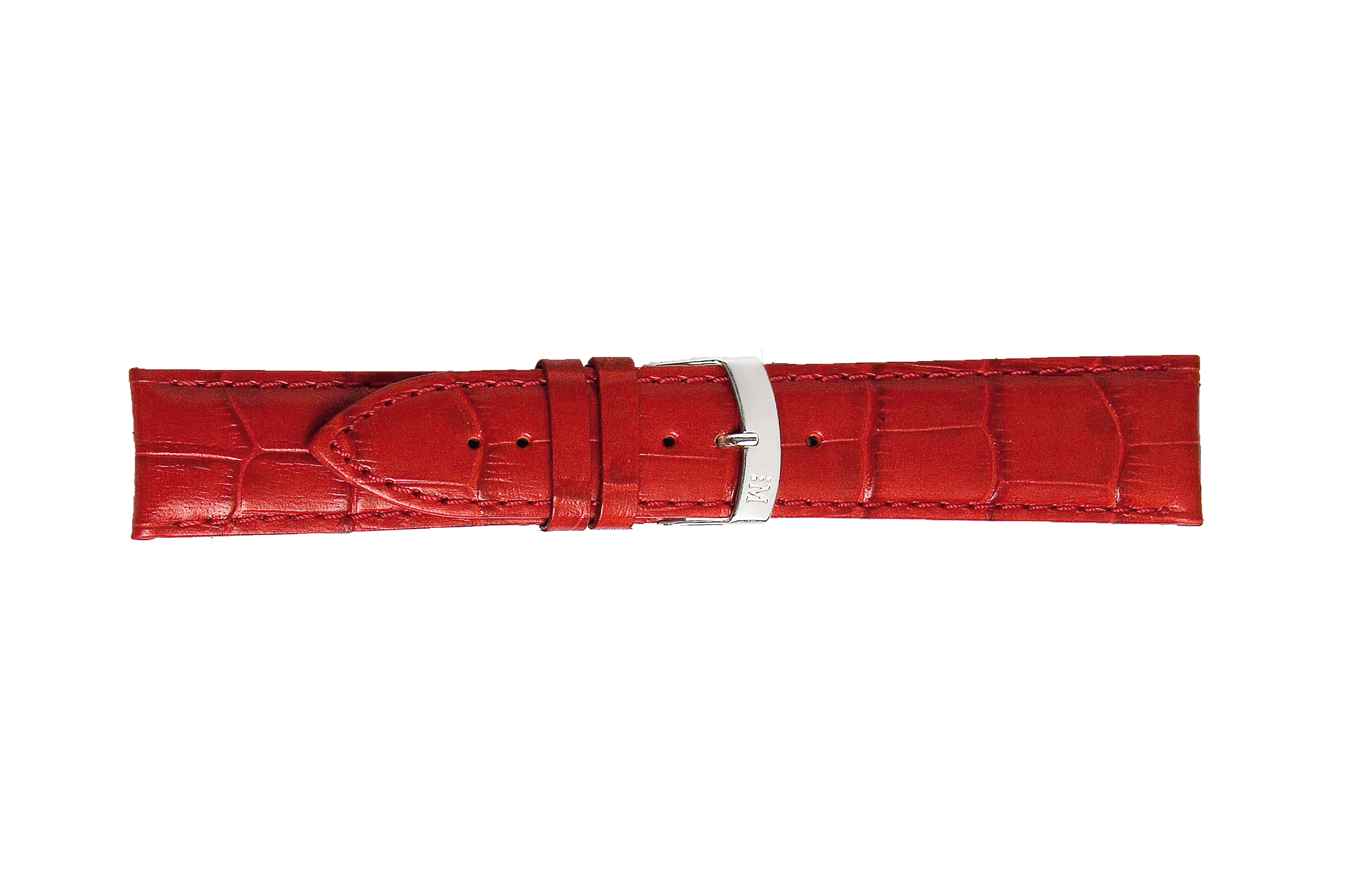 Morellato horlogeband Extra X3395656083CR30 / PMX083EXTRA30 Croco leder Rood 30mm + standaard stiksel