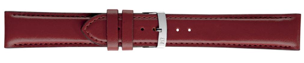 Morellato horlogeband Quercia X4329785081CR24 / PMX081QUERCI24 Glad leder Bordeaux 24mm + standaard stiksel