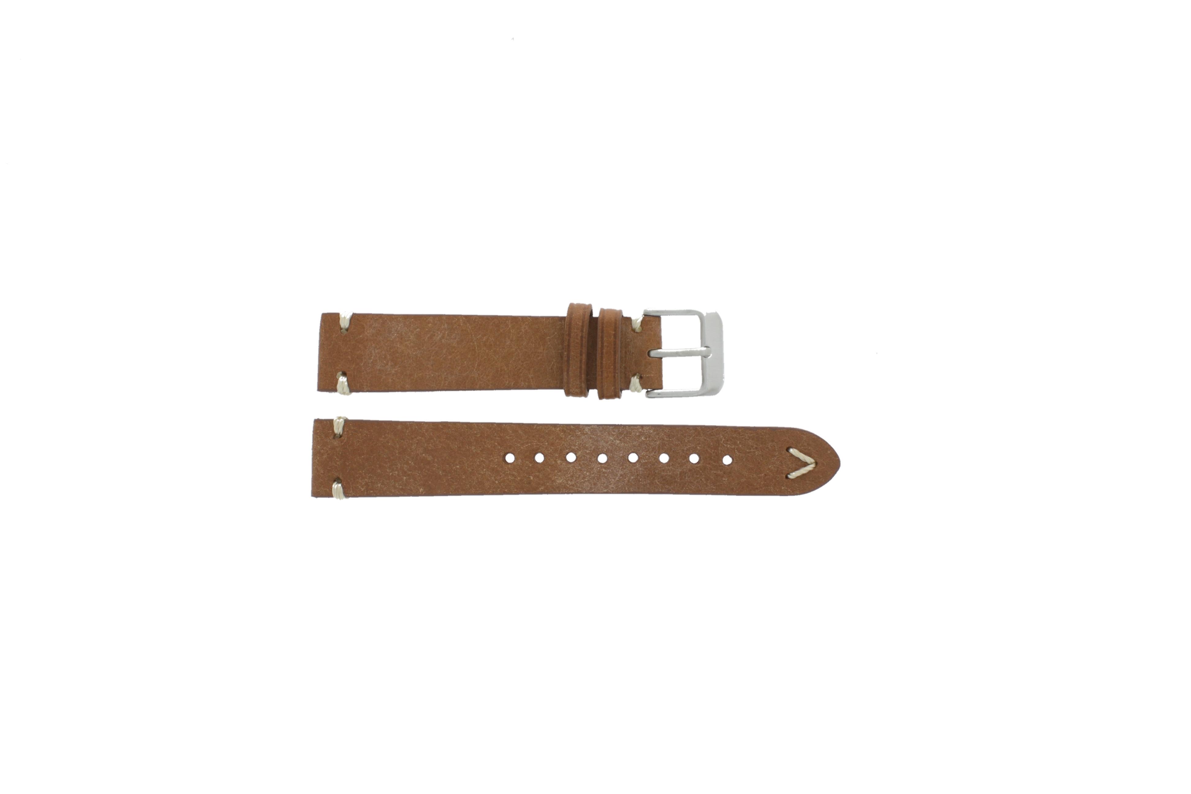 Horlogeband 22mm leder bruin 675