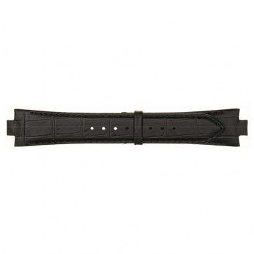 Lederen horlogeband 8mm zwart 868D