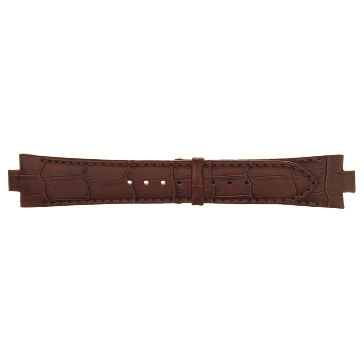 Lederen horlogeband 10mm cognac 868U