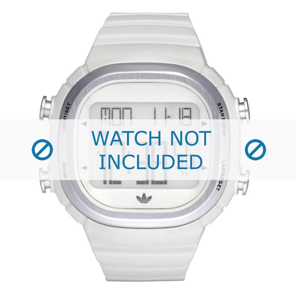 Adidas horlogeband ADH2120 Kunststof Wit 24mm