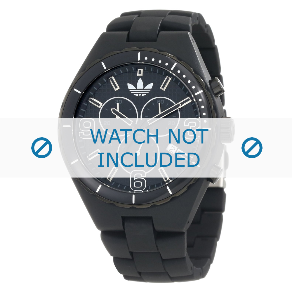 Adidas horlogeband ADH2031 Silicoon Zwart 18mm