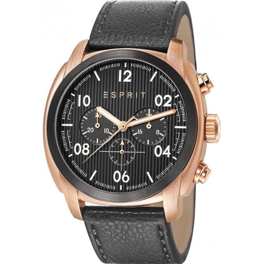 61e810d082d Horlogeband Esprit ES107551004 Leder Zwart 24mm