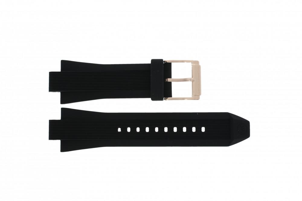 338e099bc5e Horlogeband Michael Kors MK8184 Rubber Zwart 13mm
