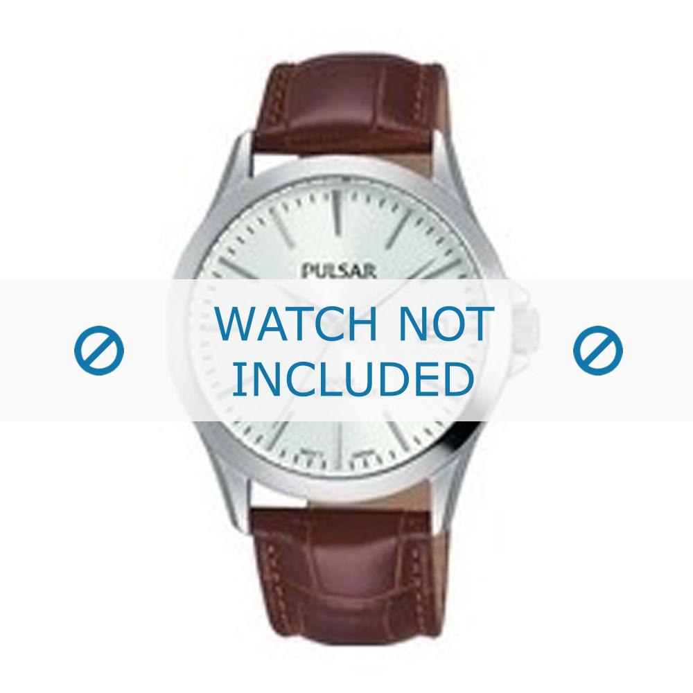 e484338c885 Pulsar horlogeband VJ42-X182 / PS9455X1 Croco leder Bruin 20mm + bruin  stiksel