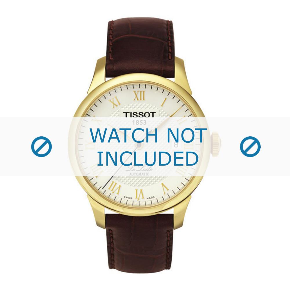 d45d1f5580b Tissot horlogeband T41-5-413-73 / T610014577 Leder Donkerbruin 19mm + bruin