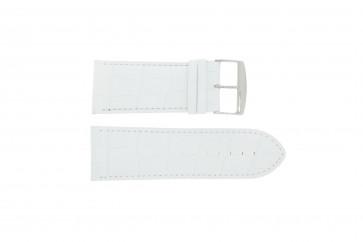 Horlogeband Universeel 305.09 Leder Wit 34mm