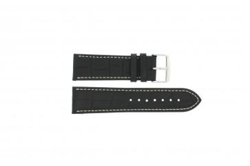 Buffalo kalf zwart met wit stiksel 24mm PVK-518XL