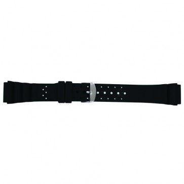 Horlogeband Universeel SL100 Silicoon Zwart 22mm