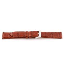 Horlogeband Universeel F335 Leder Bruin 18mm