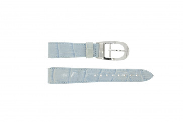 Horlogeband WoW LEDER-BLAUW-18 Leder Blauw 18mm